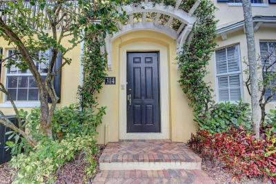 West Palm Beach Townhouse For Sale: 314 Tuxedo Lane