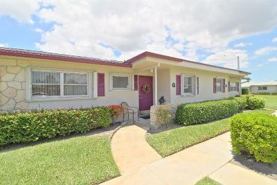 West Palm Beach Single Family Home For Sale: 2631 Barkley Drive W #G