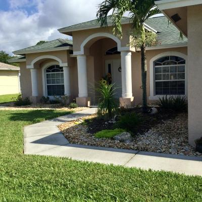 Port Saint Lucie Single Family Home For Sale: 2233 SW Import Drive