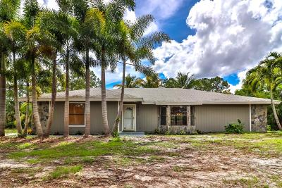 Jupiter Single Family Home For Sale: 16471 Mellen Lane
