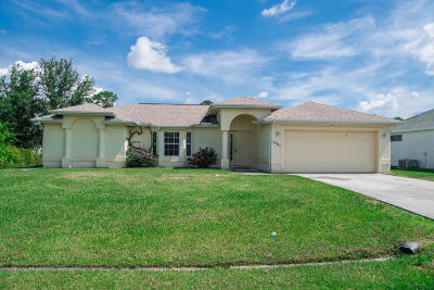 Port Saint Lucie Single Family Home For Sale: 1581 SW Crater Avenue