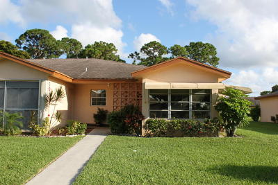 Delray Beach Single Family Home For Sale: 14428 Canalview Drive #D