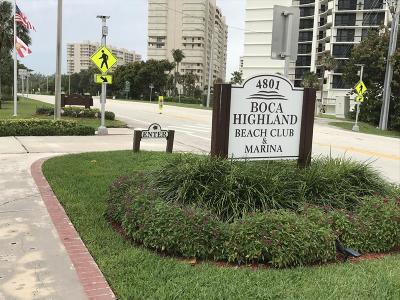 Highland Beach Condo For Sale: 4750 S Ocean Boulevard #802