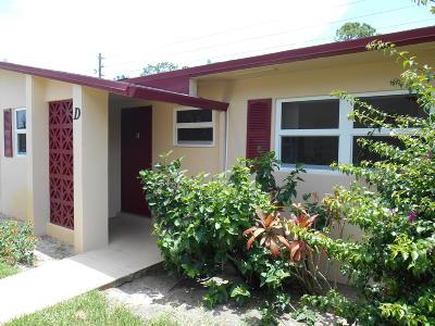 West Palm Beach Condo For Sale: 2986 Crosley Drive E #D