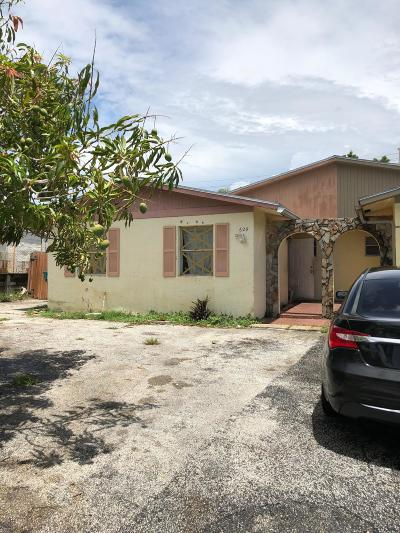 Boynton Beach Single Family Home For Sale: 629 NW 1st Avenue