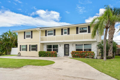 Singer Island Single Family Home For Sale: 1200 Singer Drive