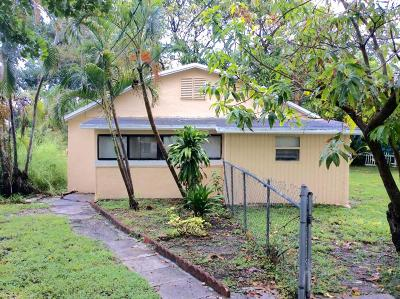 Lake Worth Single Family Home Contingent: 618 S Pine Street #B