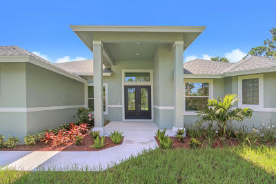 Jupiter Single Family Home For Sale: 18266 120th Trail