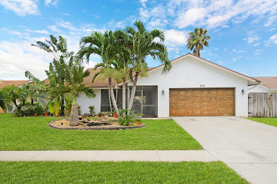 Boynton Beach Single Family Home For Sale: 50 Vista Del Rio