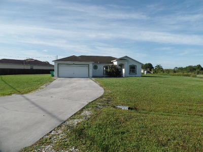 Port Saint Lucie Single Family Home For Sale: 6270 NW Topaz Way