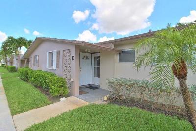 West Palm Beach Single Family Home For Sale: 2643 Barkley Drive E #C