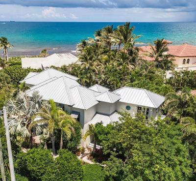 Ocean Ridge Single Family Home For Sale: 5907 Ocean Boulevard