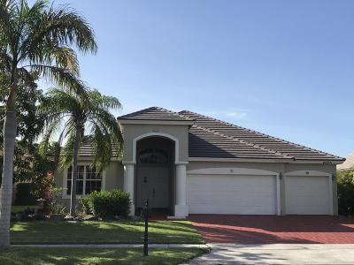 Boca Raton Single Family Home For Sale: 12355 Cascades Pointe Drive