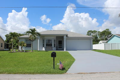 Port Saint Lucie Single Family Home For Sale: 958 SW Dalton Avenue
