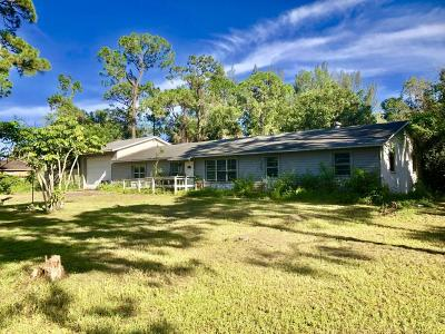 West Palm Beach Single Family Home For Sale: 7890 Pioneer Road Road
