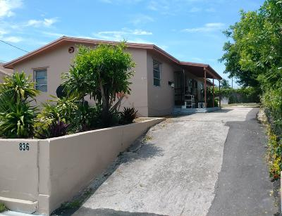 Riviera Beach Multi Family Home For Sale: 836 Dr. Martin Luther King Jr. Boulevard