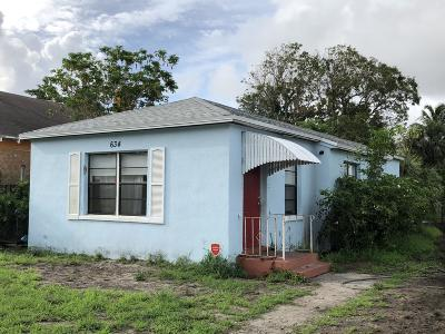 West Palm Beach Single Family Home Contingent: 634 30th Street
