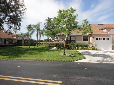 Boca Raton Single Family Home Contingent: 8426 Springlake Drive #A