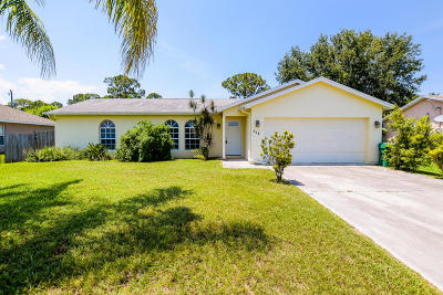 Port Saint Lucie FL Single Family Home Contingent: $207,900