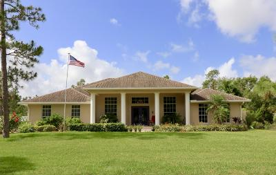 Jupiter Farms Single Family Home For Sale: 13150 159th Street