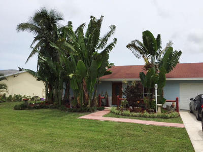 Lake Worth Single Family Home Contingent: 6391 Carthage Circle S