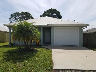 Indian River County Single Family Home For Sale: 1410 SW 25th Avenue SW