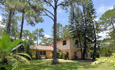 Jupiter Single Family Home For Sale: 11906 Sandy Run