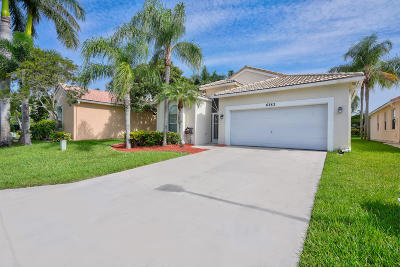 Boynton Beach Single Family Home Contingent: 6383 Coolidge Court