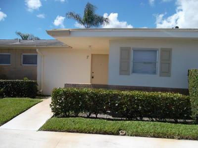 West Palm Beach Single Family Home For Sale: 2834 Crosley Drive E #F