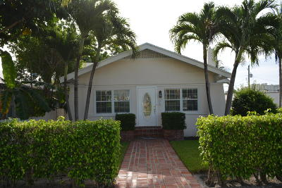 West Palm Beach Single Family Home For Sale: 1218 Florida Avenue