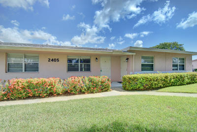 Delray Beach Single Family Home For Sale: 2405 Lowson Boulevard #B
