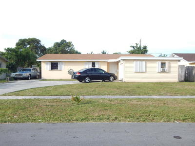 West Palm Beach Single Family Home For Sale: 312 Baker Drive