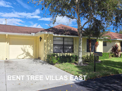 Boynton Beach Single Family Home For Sale: 9850 Orchid Tree Trail #B