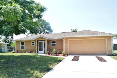 Port Saint Lucie FL Single Family Home Contingent: $169,888