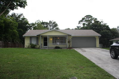Fort Pierce Single Family Home For Sale: 7601 North Boulevard