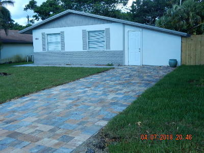 Jupiter Single Family Home For Sale: 504 N Hepburn Ave Jupiter Fl 33458 Avenue