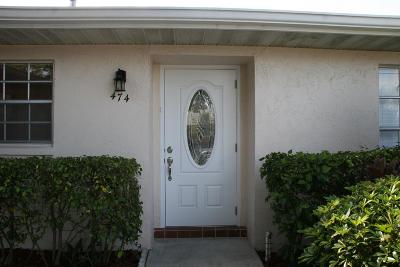 Lake Worth Single Family Home For Sale: 474 Holyoke Lane