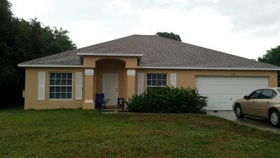 Port Saint Lucie Single Family Home For Sale: 2565 SW Barber Lane