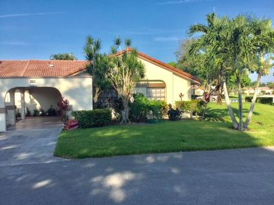 Boynton Beach Single Family Home For Sale: 5750 Parkwalk Circle E