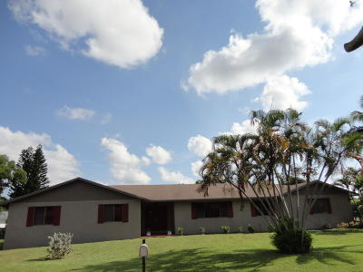Lake Worth Single Family Home For Sale: 2509 Sun Up Lane