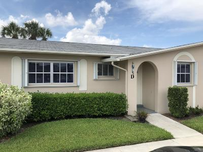 West Palm Beach Condo For Sale: 2784 Dudley Drive E #D