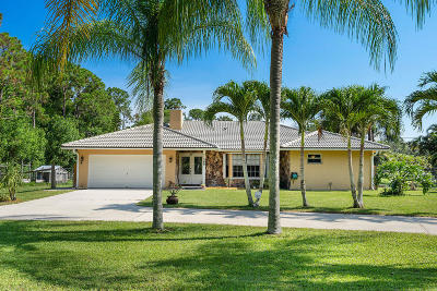 Jupiter Single Family Home For Sale: 11269 152nd Street