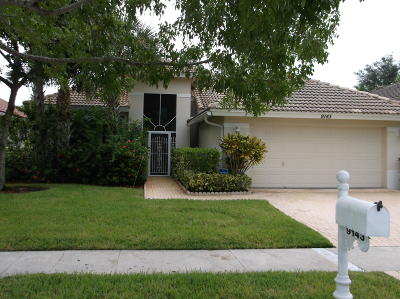 West Palm Beach Single Family Home For Sale: 9143 Bay Harbour Circle
