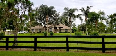 Loxahatchee Single Family Home For Sale: 18610 Fishing Hawk Lane