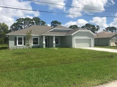 Port Saint Lucie Single Family Home For Sale: 5218 NW Mulga Court
