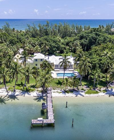 Hobe Sound Single Family Home For Sale: 482 S Beach Road