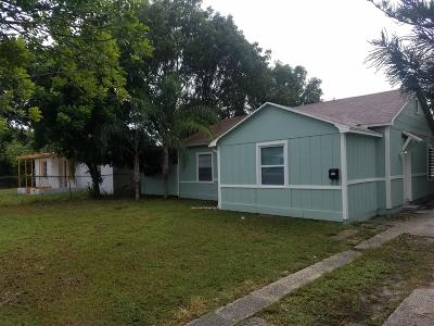 West Palm Beach Single Family Home For Sale: 906 29th Street