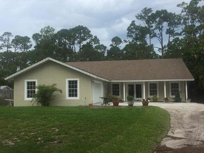 Hobe Sound Single Family Home For Sale: 6235 SE Audubon Lane