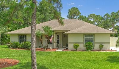 Jupiter Single Family Home For Sale: 10895 150th Court