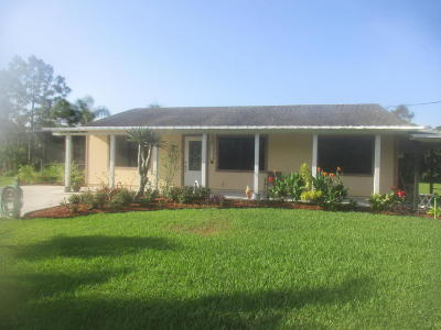 West Palm Beach Single Family Home For Sale: 13170 61st Lane